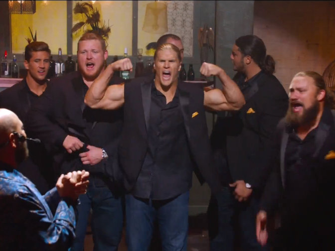 "The cast of ""Pitch Perfect"" has some new co-stars for its sequel, namely Packer linebacker Clay Matthews."