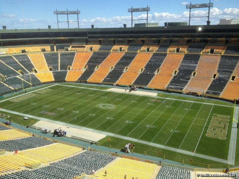 Lambeau Field all decked out for Week 1 of the NFL season.