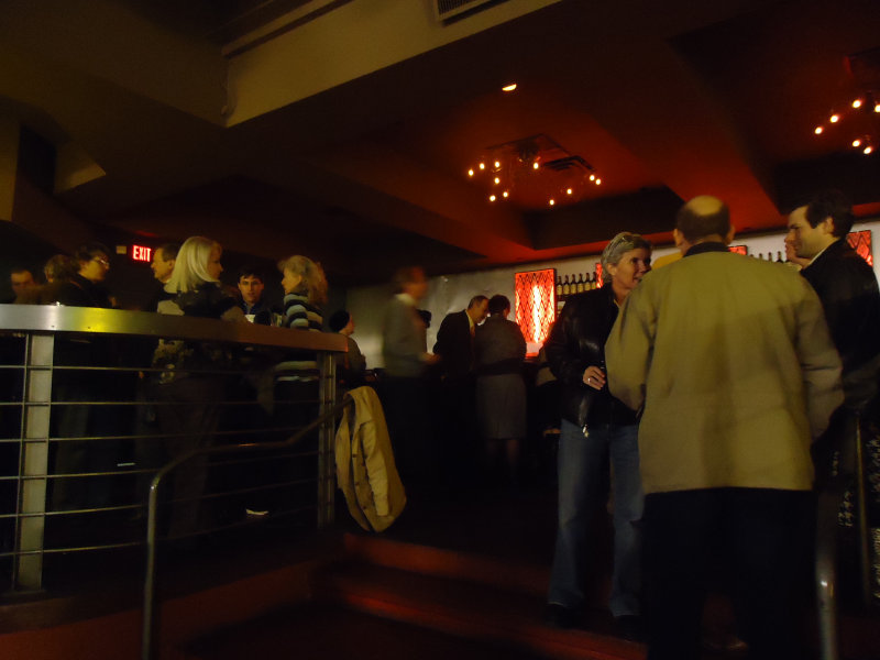 People mingle at Whiskey Bar at 788 N. Jackson St. for the Party for the Parks calendar release event.