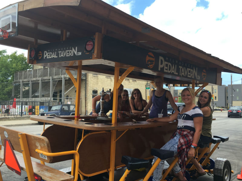 The Pedal Tavern is a great group activity.