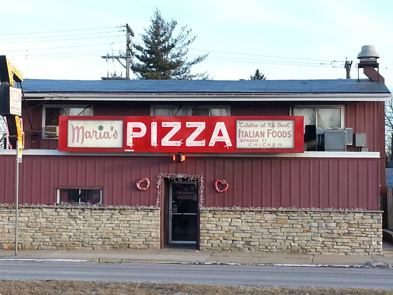 The second and current location of Maria's Pizza.