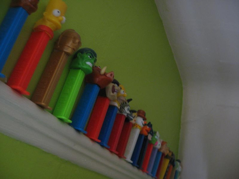 A portion of my Pez dispenser collection.