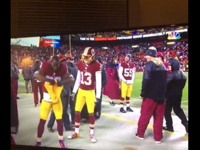 Pierre Garcon annihilated a Cheesehead in Washington's win over Green Bay