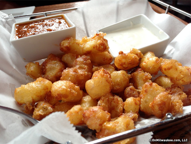 Nothing says Wisconsin like cheese curds. Tasty, but a little greasy.