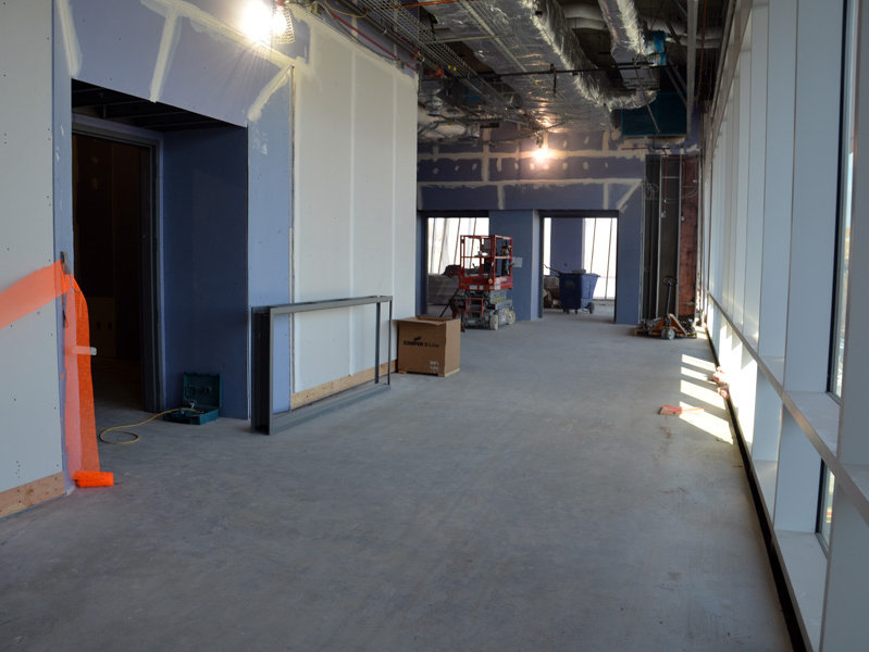This third-floor area will house a meeting room.