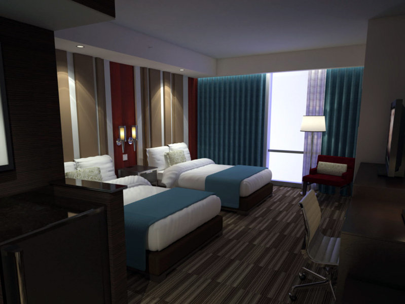 Here's how the standard double queen rooms will look.