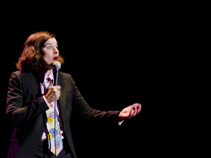Paula Poundstone delivered a mixed set of jokes Friday night at The Pabst.