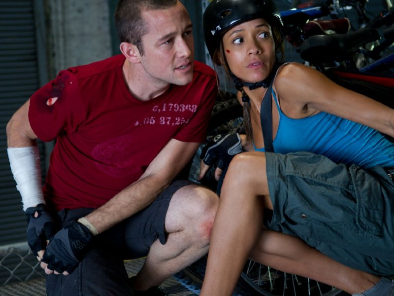 "Joseph Gordon-Levitt and Dania Ramirez star in ""Premium Rush,"" in theaters now."