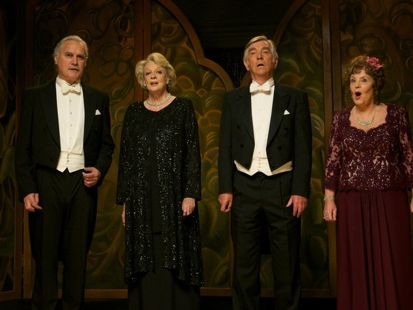 "Billy Connolly, Maggie Smith, Tom Courtenay and Pauline Collins star in ""Quartet."""
