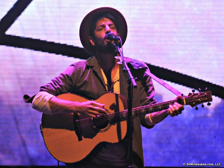 Ray LaMontagne performing at the BMO Harris Pavilion on opening day of Summerfest.