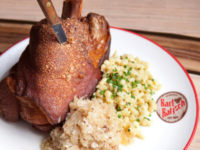 Crackling pork shank and other recipes from Karl Ratzsch