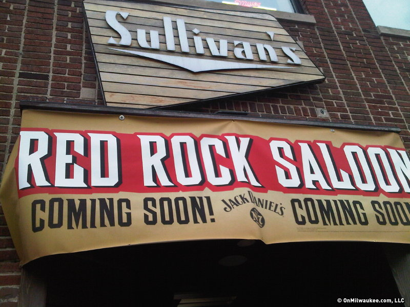 Coming soon to Water Street, Red Rock Saloon.