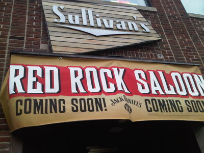 Sullivan's going country rock as Red Rock Saloon