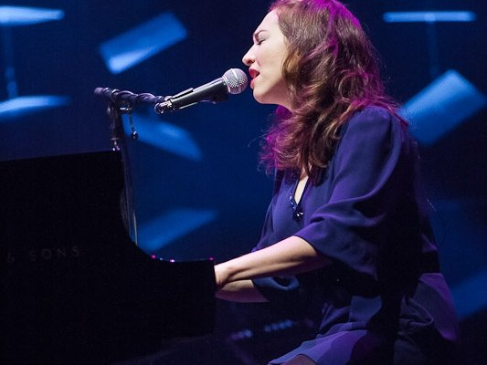 Regina Spektor wowed at the Riverside Theater Saturday night.