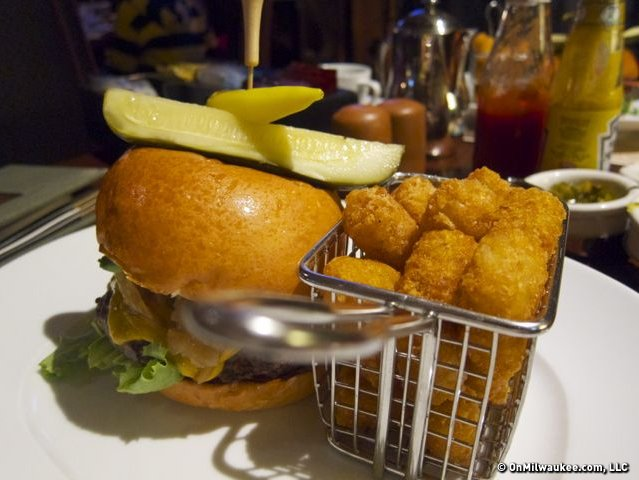 A build your own kobe burger, with tater tots, of course, at Scottsdale's Relish Burger Bistro.