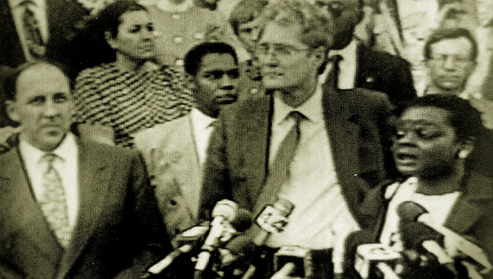 Wisconsin Attorney General Jim Doyle Mayor John O Norquist And State Represetnative Gwen Moore