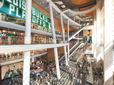 Bucks take new arena renderings back to the drawing board