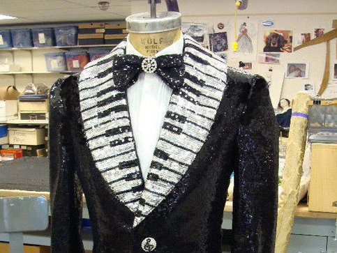 "A costume from the Rep's production of ""Liberace!"" in the 2010-11 season."