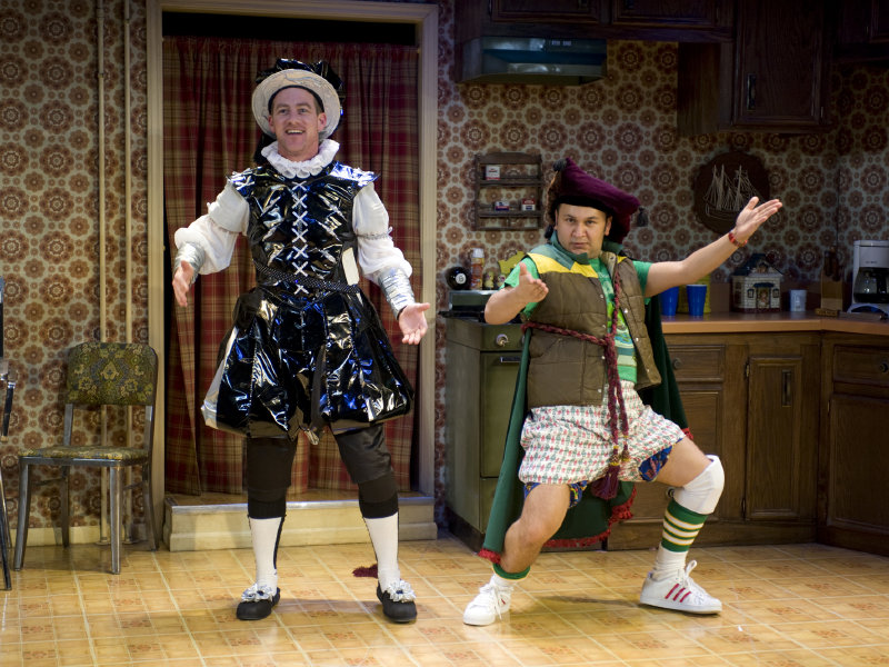 "Gerard Neugent (left) and Ernie Gonzales are two-thirds of the cast in ""The Complete Works of William Shakespeare (abridged)."""