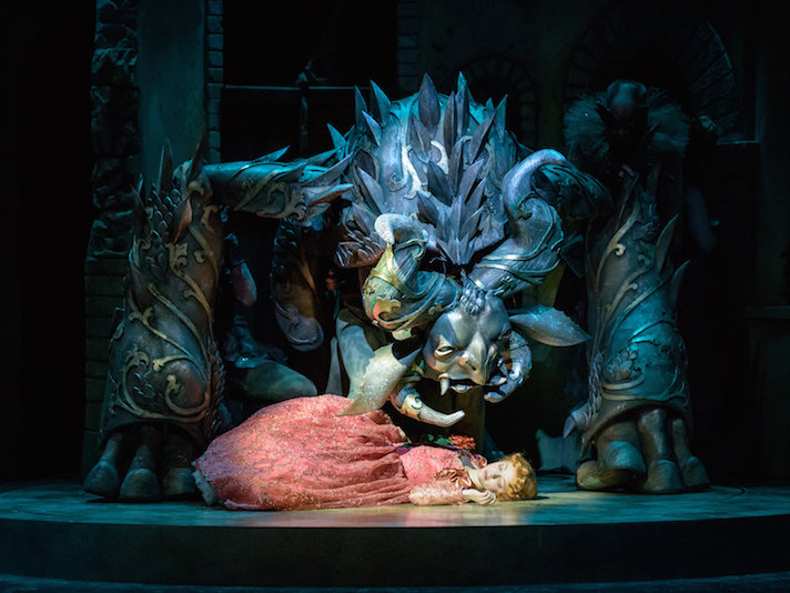 Gigantic Puppet Beast Creates Havoc In Skylight S Beauty And The