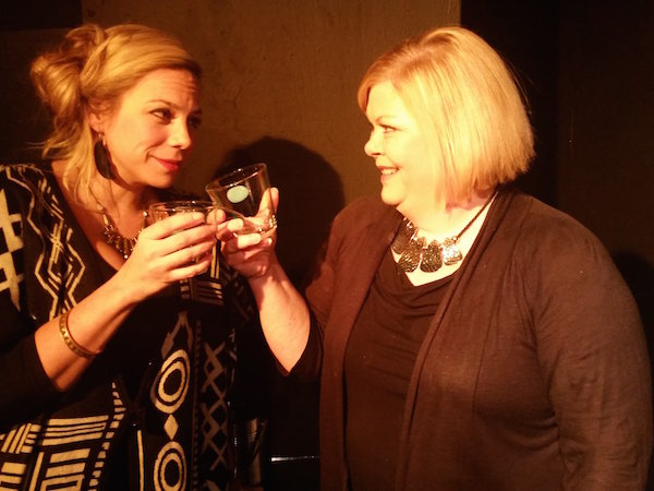 "Michelle White (left) and Donna Lobacz play wives in ""God of Carnage"" at Off the Wall Theatre."