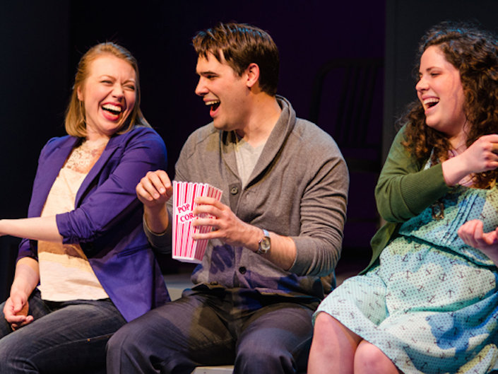 "Jenna Vik, Michael T. Black and Rachael Zientek star in In Tandem's ""Little by Little."""