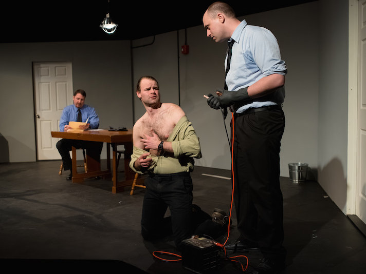"Dylan Bolin, Tim Palecek and Emmitt Morgans create horror and power in ""The Pillowman."""