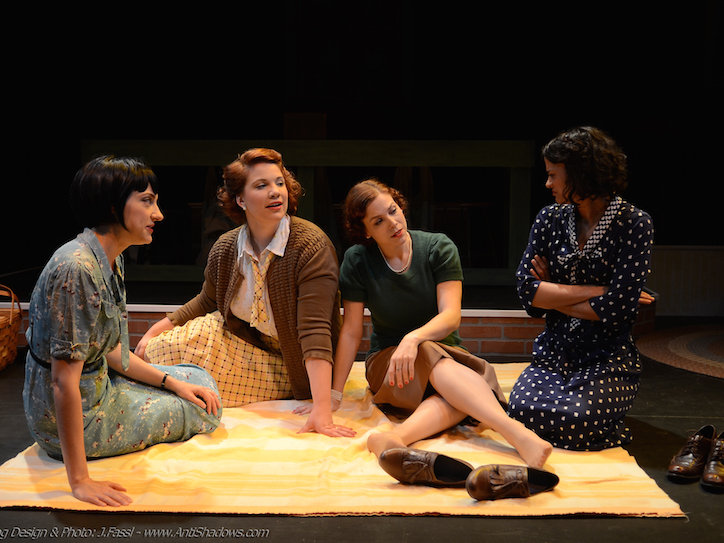 "Libby Amato, Linnea Koeppel, Anna Figlesthaler and Jade Taylor in ""These Shining Lives."""
