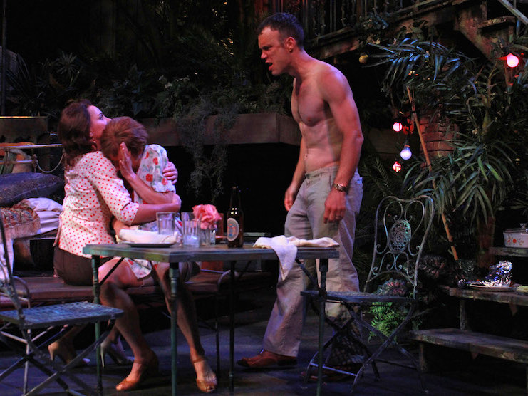 "Eric Parks is a threatening Stanley Kowalski in APT's ""A Streetcar Named Desire."""