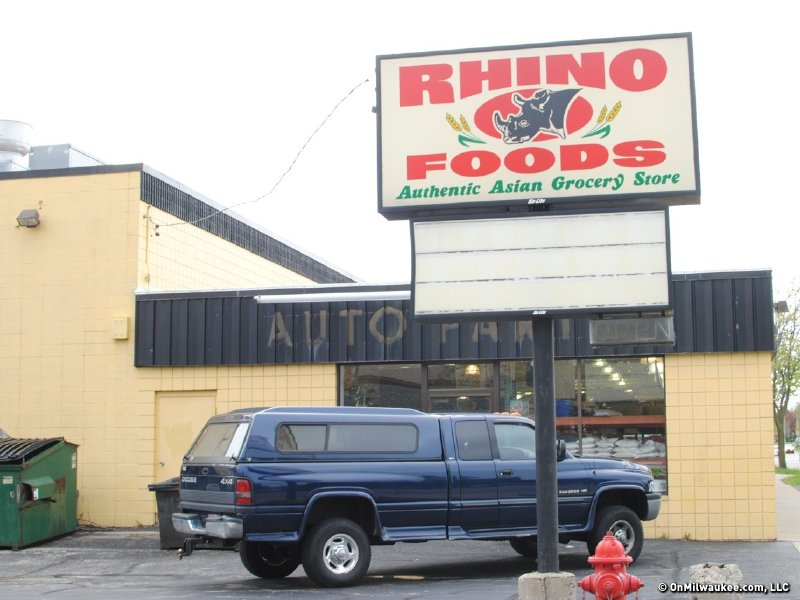 Rhino Foods is located inside a former engine repair shop.