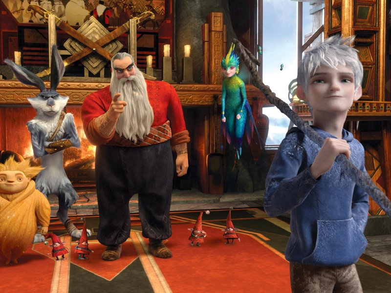 "Sandman, Bunny, North, Tooth and Jack Frost are the heroes of ""Rise of the Guardians,"" in theaters now."