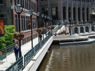 City leaders past and present celebrate Riverwalk anniversary & accessibility