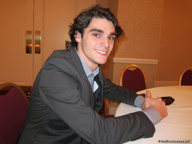 RJ Mitte was in Milwaukee yesterday as the United Cerebral Palsy Youth Ambassador.