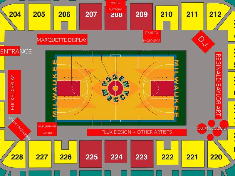 "A sneak peek at the exhibit layout of ""The Mecca"" floor on Aug. 23."