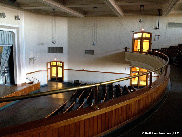 The auditorium, which is currently not in use, hasn't changed at all.