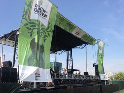 An early look at Rock the Green's green grounds