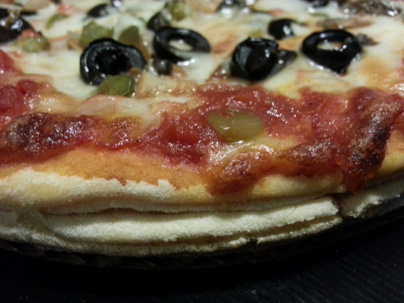 Black olives usually ruin a pizza for me, but Big Ebe's sauce was just strong enough.
