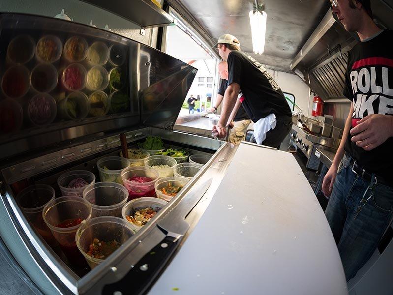 Inside The ROLL MKE Food Truck