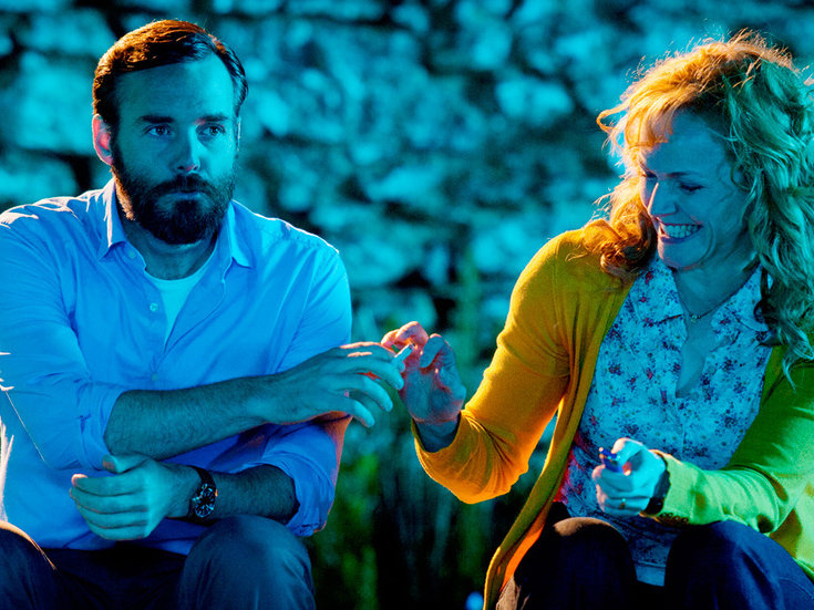 "Will Forte and Maxine Peake in ""Run & Jump."""