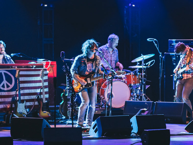 Ryan Adams wore his own concert T-shirt during tonight's show. How do we feel about that?
