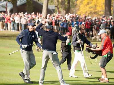Present paints a new picture of the past at the Ryder Cup as U.S. leads