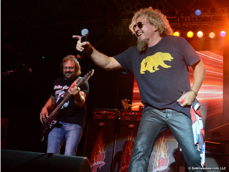 Sammy Hagar performed at the Miller Lite Oasis Saturday night at Summerfest.