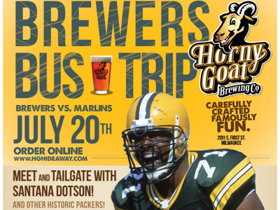 Tailgate with former Packers player Santana Dotson