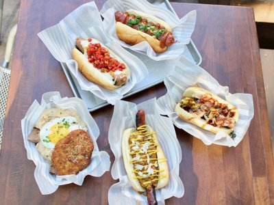 5 amazing sausages from Chef Shay Linkus' last menu at The Vanguard
