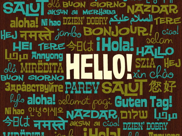 "I don't care in what language my kids say ""hello,"" just say it, por favor."