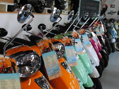 Scooter Therapy stalled by recession, bureaucracy
