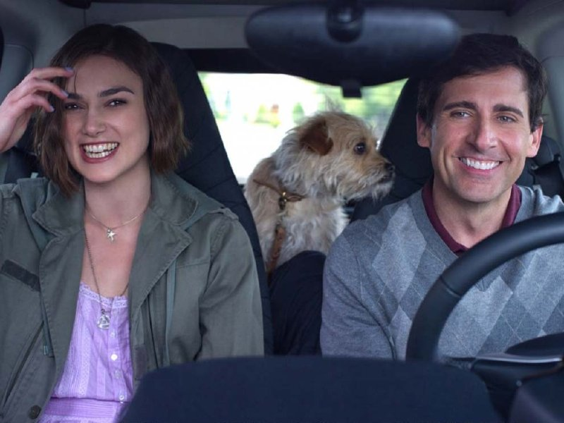 "Keira Knightley and Steve Carell star in ""Seeking a Friend for the End of the World,"" in theaters now."