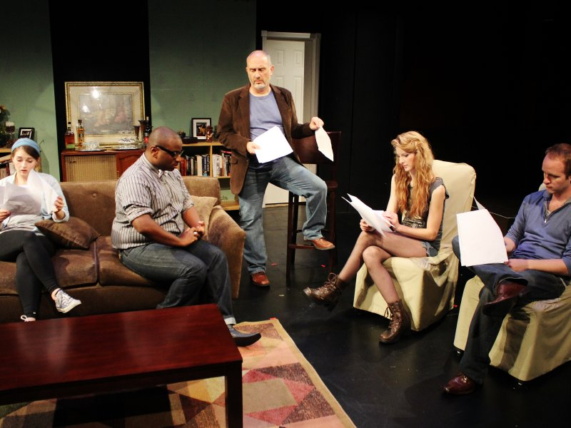 "The cast of The World's Stage Theatre Company's production of ""Seminar."""