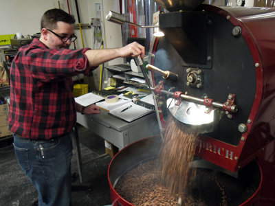 Shift switch: Coffee roaster at Valentine