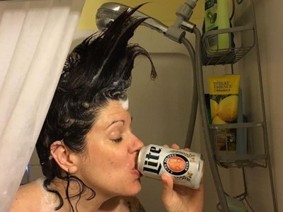The joy of a shower beer Image
